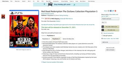 Слух: Rockstar готовит сборник Red Dead Redemption: The Outlaws Collection с ремейком первой части для Xbox Series X и PS5