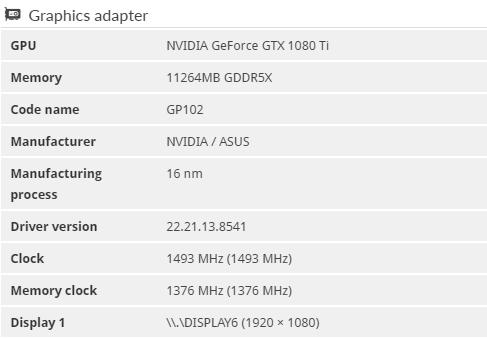 ASUS ROG Strix GTX 1080 Ti - 011G - Gaming