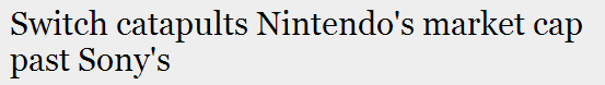 Nintendo > Sony